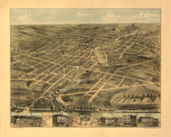 Akron, Ohio 1870 Bird's Eye View