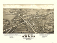 Akron - 6th Ward, Ohio 1882 Bird's Eye View