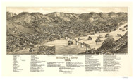 Bellaire, Ohio 1882 Bird's Eye View