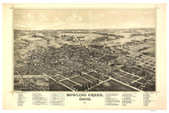 Bowling Green, Ohio 1888 Bird's Eye View