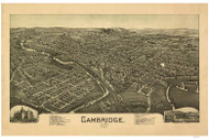 Cambridge, Ohio 1899 Bird's Eye View