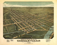 Circleville, Ohio 1876 Bird's Eye View