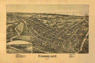 Conneaut, Ohio 1896 Bird's Eye View