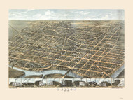 Dayton, Ohio 1870 Bird's Eye View