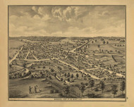 Degraff, Ohio 1875 Bird's Eye View