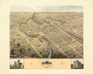 Elyria, Ohio 1868 Bird's Eye View