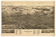 Findlay, Ohio 1889 Bird's Eye View