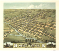 Mount Vernon, Ohio 1870 Bird's Eye View