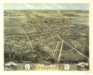 Norwalk, Ohio 1870 Bird's Eye View