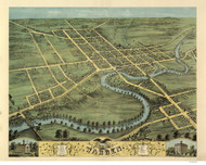 Warren, Ohio 1870 Bird's Eye View