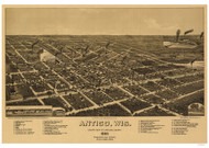 Antigo, Wisconsin 1887 Bird's Eye View