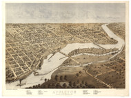 Appleton, Wisconsin 1867 Bird's Eye View