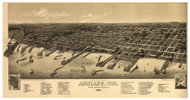 Ashland, Wisconsin 1886 Bird's Eye View