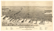 Ashland, Wisconsin 1890 Bird's Eye View