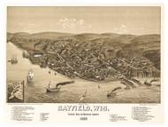 Bayfield, Wisconsin 1886 Bird's Eye View