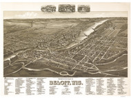 Beloit, Wisconsin 1890 Bird's Eye View
