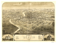 Berlin, Wisconsin 1867 Bird's Eye View