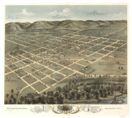 Boscobel, Wisconsin 1869 Bird's Eye View