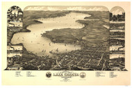 Lake Geneva, Wisconsin 1882 Bird's Eye View
