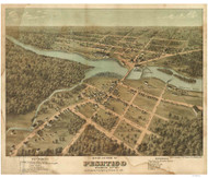 Peshtigo, Wisconsin 1871 Bird's Eye View