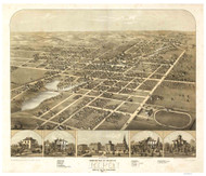 Ripon, Wisconsin 1867 Bird's Eye View