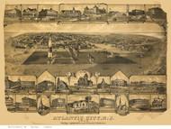 Atlantic City, New Jersey 1880 Bird's Eye View