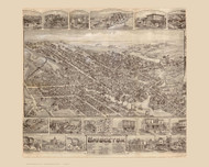 Bridgeton, New Jersey 1886 Bird's Eye View