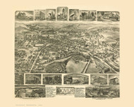 Dover, New Jersey 1903 Bird's Eye View