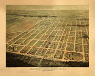 Egg Harbor City, New Jersey 1865 Bird's Eye View