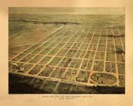 Egg Harbor City, New Jersey 1865 Bird's Eye View