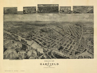 Garfield, New Jersey 1909 Bird's Eye View