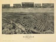 Garfield, New Jersey 1909 Bird's Eye View