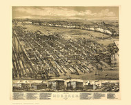 Hoboken, New Jersey 1881 Bird's Eye View