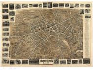 Morristown, New Jersey 1899 Bird's Eye View