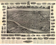 New Brunswick, New Jersey 1910 Bird's Eye View