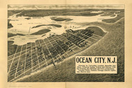 Ocean City, New Jersey 1903 Bird's Eye View