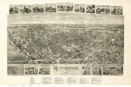 Rutherford, New Jersey 1904 Bird's Eye View