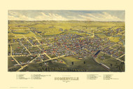 Somerville, New Jersey 1882 Bird's Eye View