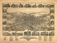 Vineland, New Jersey 1885 Bird's Eye View