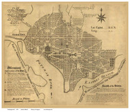 Washington DC 1792 - Ellicott - Old Map Reprint