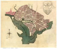Washington DC 1793 - Good - Old Map Reprint