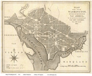 Washington DC 1793 - Author Unknown - Old Map Reprint