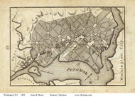 Washington DC 1802 - Jones & Moore - Old Map Reprint
