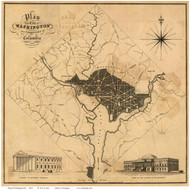 Washington DC 1819 - Lizars - Old Map Reprint