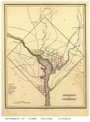 Washington DC 1835 - Krafft - Old Map Reprint
