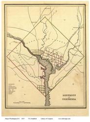 Washington DC 1835 - Krafft - Old Map Reprint