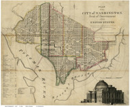 Washington DC ca1835 - Keily - Old Map Reprint