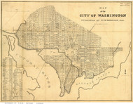 Washington DC 1846 - Mitchell - Old Map Reprint