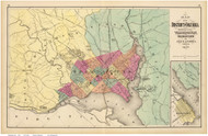 Washington DC 1873 - Gray - Old Map Reprint