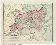 Washington DC 1874 - Gray - Old Map Reprint